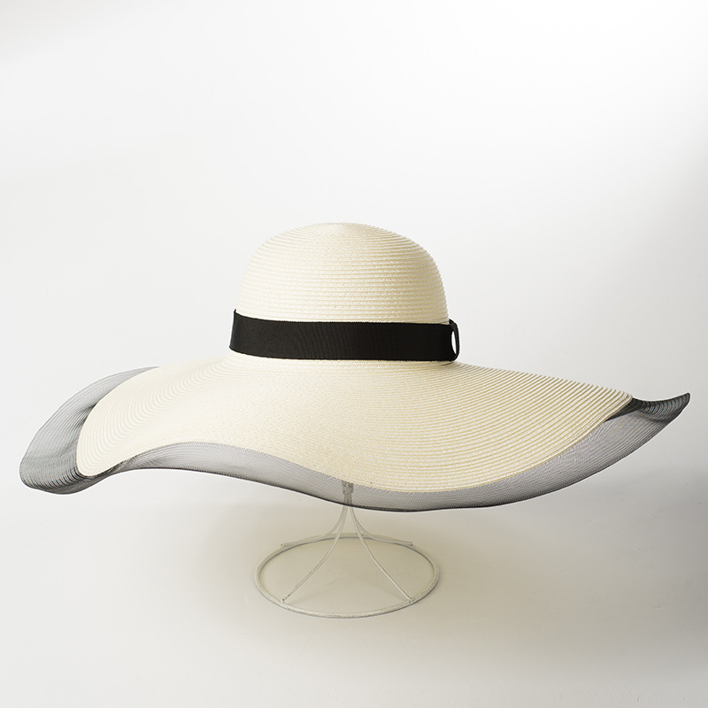 6998fd5f Aliexpress.com : Buy Floppy Hat Sun Hats for Women 2018 Summer Beach Wide  Brim Hat with Veil White Paper Straw Hats for Ladies 681050 from Reliable Sun  Hats ...