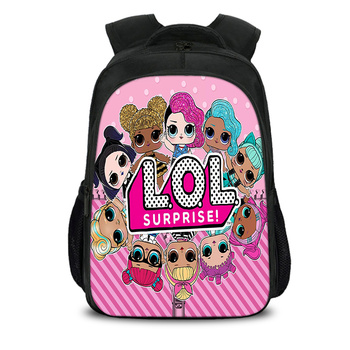 LOL Dolls Baby Printed Children Schoolbag for Teenager Girls Lovely School Bags for Girls Orthopedic Laptop Backpack Bolsa лол блинг