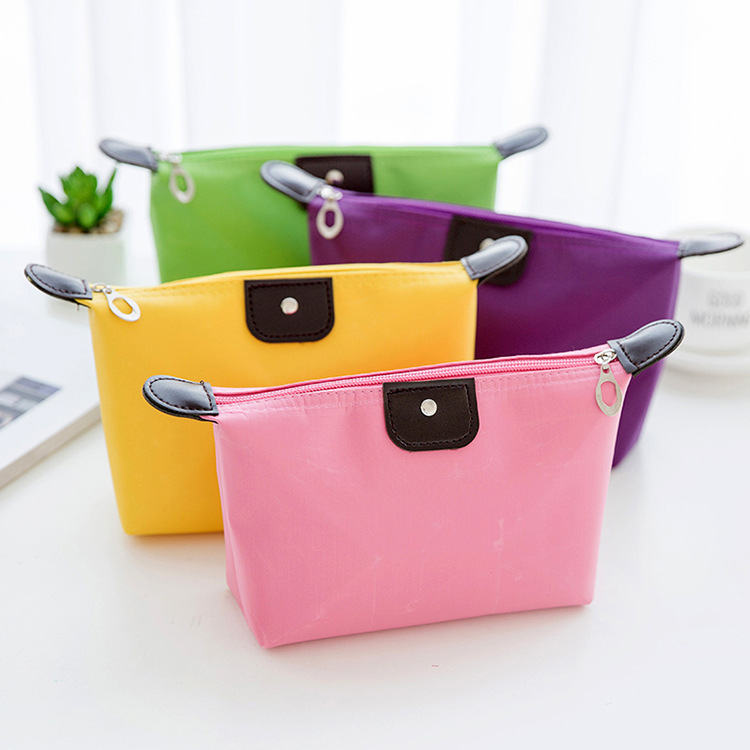 2019 Fashion Beauty Nylon Cloth Cosmetic Makeup Bag For Lady Organizer Zipper Handbag Travel Toiletry Case Pouch