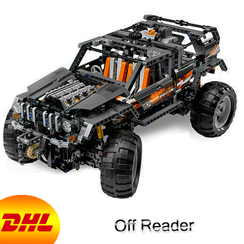 HF Technic Figures 1132Pcs Off Reader Model Building Kits Blocks Bricks Educational Toys For Children Gift Compatible With 8297 lepin 20030 technic ultimate series the 1132pcs off roader set children educational building blocks bricks toys model gifts 8297