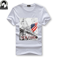 Men's Fashion T-Shirt 2017 T Shirt Short Sleeve Tee Plus Size Hot Sale American flag Printing Tshirt Tops Summer Style T-shirt