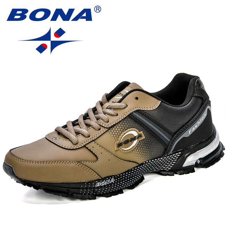 BONA New Design Classics Style Men Running Shoes  Lace Up Sport Shoes Outdoor Walking Durable Outsole Jogging Comfy Sneakers