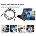 5 m 2 m 1 m micro usb endoscopio android cámara 7mm len serpiente HD480 OTG Android USB Endoscopio Cámara Impermeable de inspección de Tuberías 480 P