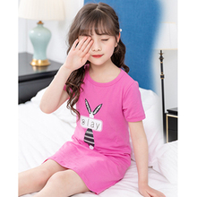 Girls Clothes Dress Cartoon Printing Cotton Long Section T-shirt Home S Casual Wear Baby 4-13 Y Child Quality Clothing