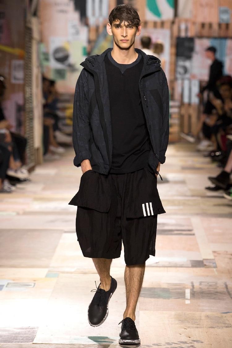 Taille Chanteur Cheveux Catwalk New 27 La Mode Styliste Noir Vêtements Hommes Linge pont Pantalon Costumes Double Hot Harem 2018 De Plus 44 Casual Gd R1wAwq