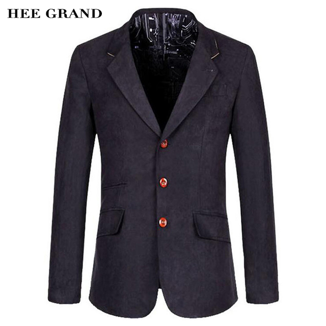 HEE GRAND Men's Casual Blazers Hot Sale Leisure Suit Fashion Slim Fitting Blazers Single Breasted Costume Homme  MWX268