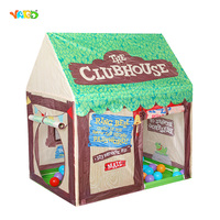 Foldable Play Tent Kids Children Boy Girl Castle Cubby Play House Bithday Christmas Gifts Outdoor Indoor