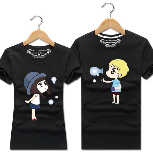 2018 Women Men Couple T Shirt For Lovers Hot Valentine S Day Couple