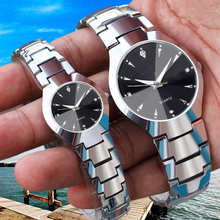 Fashion Men Watch Casual Women Watches Strap Stainless Steel Lovers Couple Male Female WristWatch Silver Bracelet Quartz Clock(China)