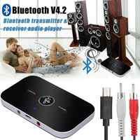 B6 2 in1 Bluetooth 4,2 transmisor y receptor inalámbrico de A2DP Adaptador de Audio Aux 3,5mm reproductor de Audio para TV/ estéreo para el hogar/teléfono móvil