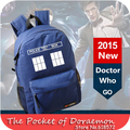 2015 New Candy Color Doctor Who Tardis Canvas Printing Backpack Travel Men's Backpacks School Bags for Teenagers Rucksack