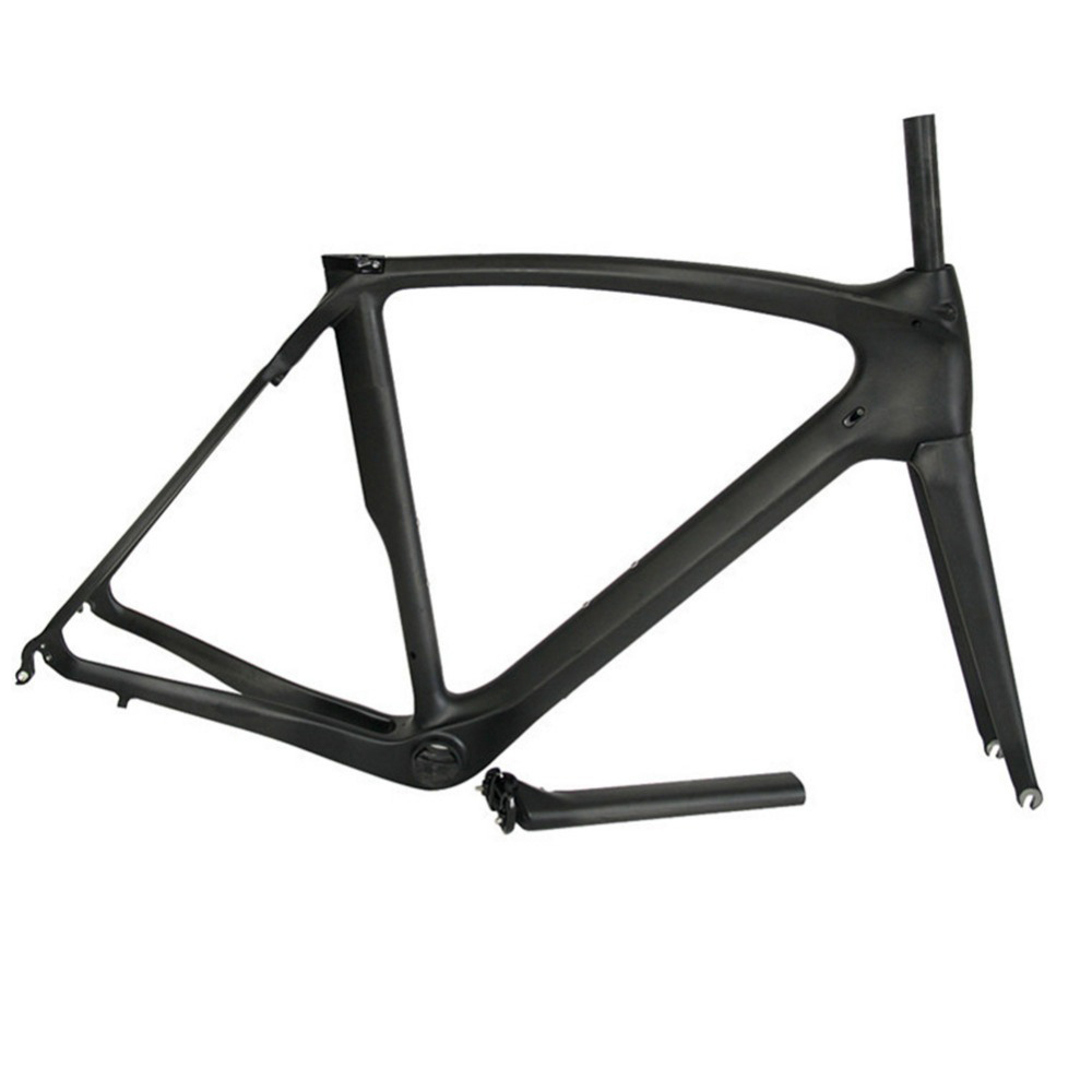EMS Free Shipping 2017 New Full Carbon Road Bike Frame Racing Road Bicycle Carbon Frameset With Fork And Headset+Seatpost+BB386
