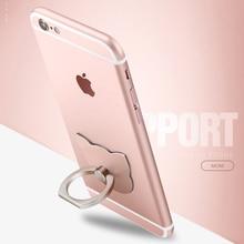 Pop Kitty Cat Luxury 360 Degree Metal Finger Ring Holder Smartphone Mobile Phone Finger Stand Holder Socket