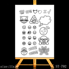 AZSG lovely night Clear Stamps/Silicone Transparent Seals for DIY scrapbooking Card Making