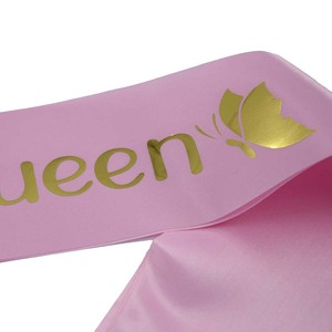 Image 5 - Birthday Queen Satin Ribbon Sash 20th 21st 30th 40th 50th Birthday Sash for Women Girl Happy Birthday Party Decorations Supplies