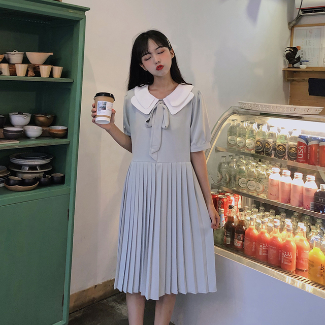 detailed look 718c7 33b9e Süße puppe kragen kleid frauen schöne kleider chic ins kawaii mädchen süße  koreanische punk kleidung für sommer büro strand
