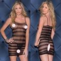 Женщины костюмы bodycon белье sexy hot эротика bodystocking сексуальное нижнее белье плюс размер платья эротика открыть кротч пижамы