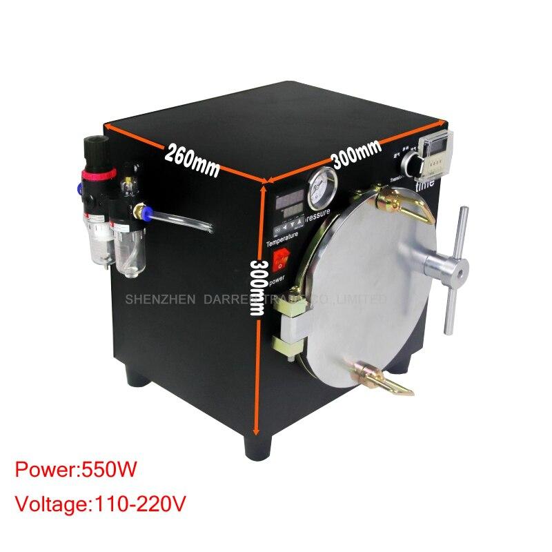2015 NEW Black Mini High Pressure Autoclave OCA Adhesive Sticker LCD Bubble Remove Machine for Glass Refurbishment