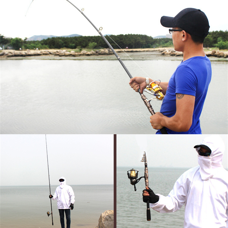 Image 5 - Carbon Fiber Sea Fishing Rod Mini Portable Telescopic Spinning Fishing Rod Outdoor 1.8m 3.3m Ultra light Sea /Ocean Fishing Rod-in Fishing Rods from Sports & Entertainment on AliExpress
