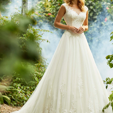 Loverxu Wedding Dress 2019 Cap Sleeve Bride Dress