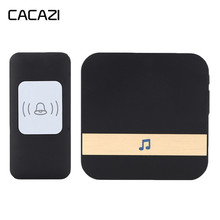 CACAZI Wireless Doorbell Waterproof 300m Remote LED Light Battery Button Receive