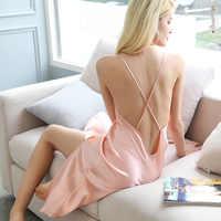핑크 100% 뽕나무 실크 잠옷 여성용 nighties 나이트웨어
