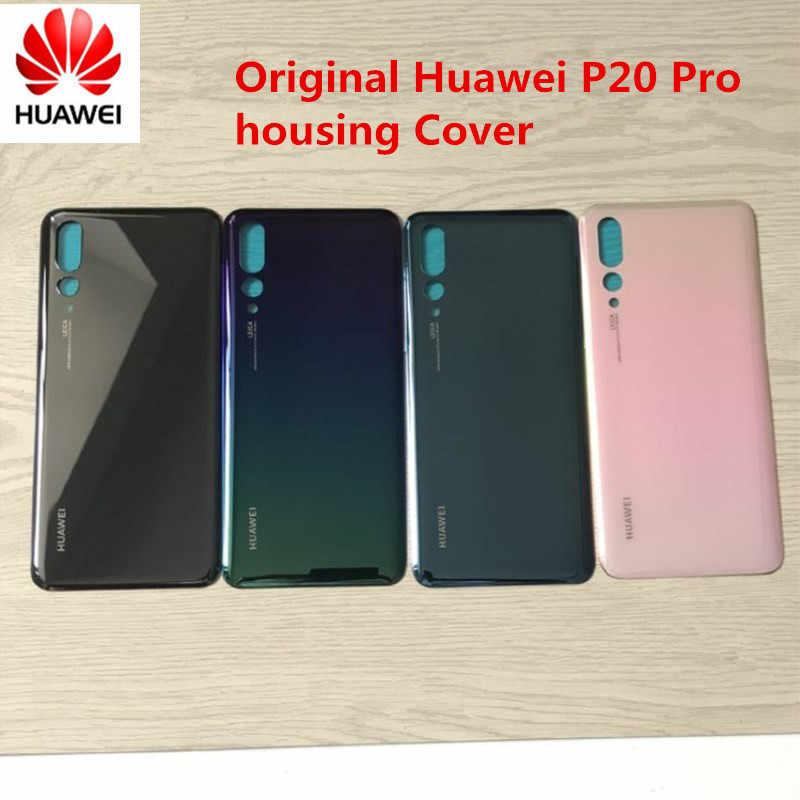 100% оригинал huawei p20 pro задний запасной Корпус задняя дверь батарея чехол липкая наклейка, 4 Наличие цвета