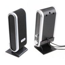 新ミニスピーカー本棚スピーカー 2 × 3 ワット格安ポータブル usb スピーカー電話ラップトップ Pc のコンピュータ