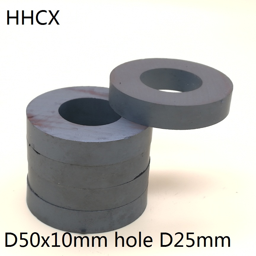 5pcs/lot Y30 Ring Ferrite Magnet 50*10 Mm Hole 25mm  Permanent  Magnet 50mm X 10mm Black Round Speaker 50X10 50-25*10