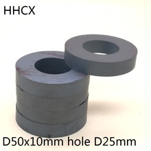 5pcs/lot Y30 Ring Ferrite Magnet 50*10 mm Hole 25mm  Permanent  magnet 50mm x 10mm Black Round Speaker 50X10 50 25*10