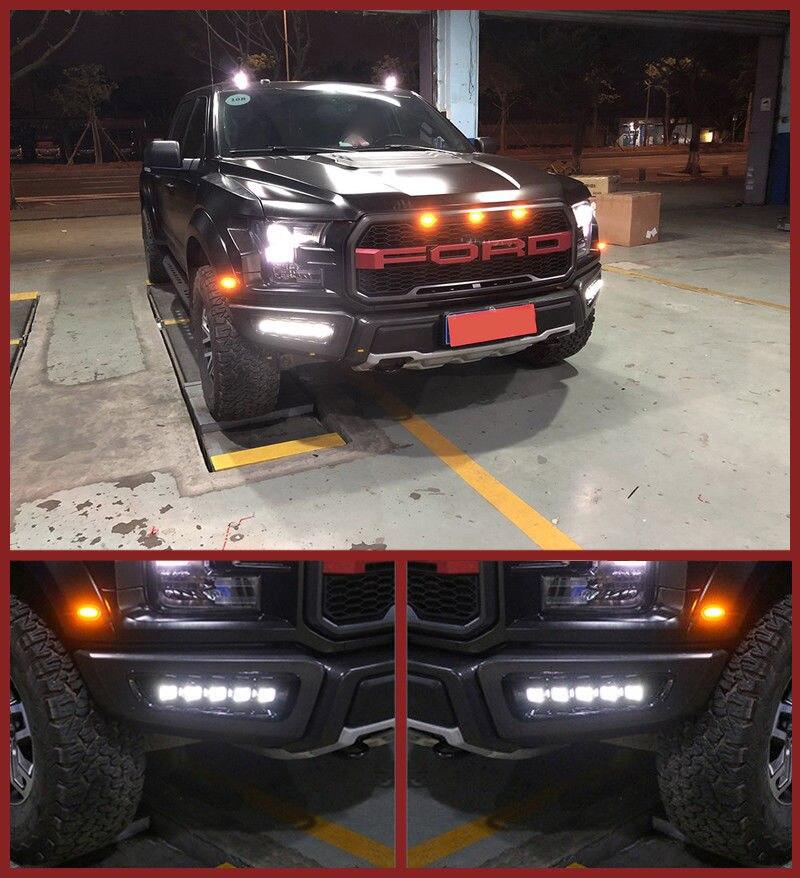 New LED Daytime Running Light Fog Lamp+Cable For Ford F150 Raptor 2016,2017,2018