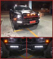 White LED Daytime Running Light For Ford F150 Raptor SVT DRL 2016 2017 2018
