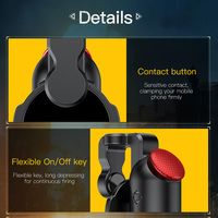 Baseus 1Pair L1 R1 Gaming Trigger Mobile Phone Games Shooter Controller Fire Button Handle For PUBG/Rules of Survival/Knives Out 2
