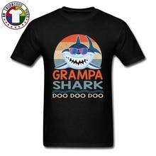 Retro Vintage Grampa Shark Vaporwave T Shirts Hawaii Beach Sunshine Street Tshirts For Men Graphic New Tee Shirt Homme