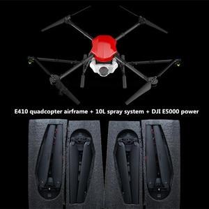 Image 3 - E410 أربعة محاور الزراعية رذاذ الطائرة بدون طيار 10L الإطار 1300 مللي متر قاعدة العجلات 10L نظام الرش X8 / E5000 امدادات الطاقة