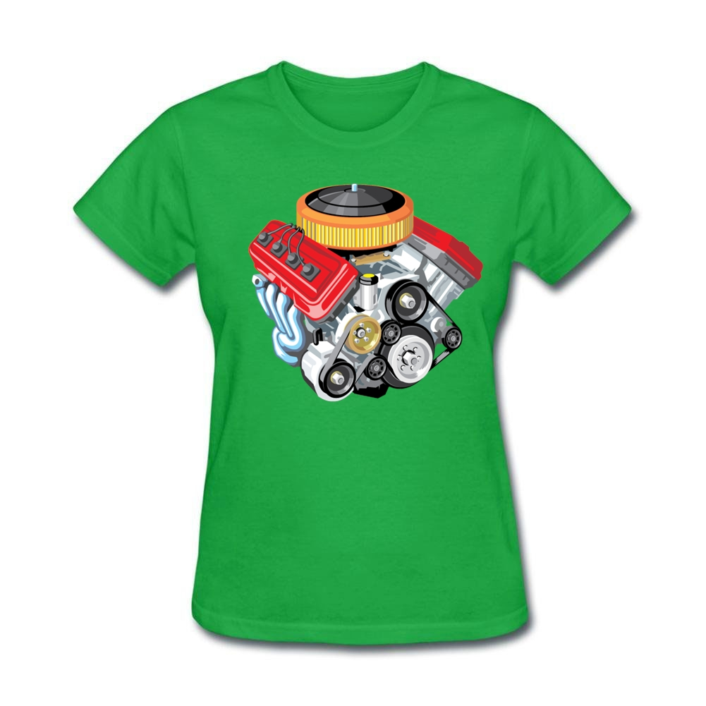 Design your own eco-friendly t-shirt - Stay Woman Organic Cotton Tops Sophisticated Car Engine Old Ladies Tees Short Sleeves Design Your Own T Shirt Shoes