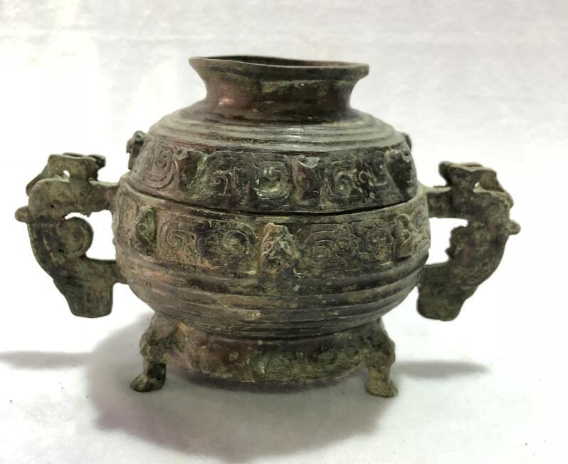 Antique Dyke Birthplace Bronze Decoration Antique Antique Bronzes Bronze Western Zhou Chung Father Father