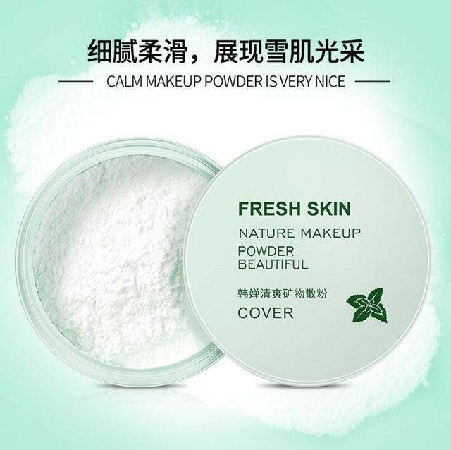Fresh Mineral Loose Setting Powder Oil Control Concealer Smooth Nature Foundation makeup Powder Beauty Face Care 1