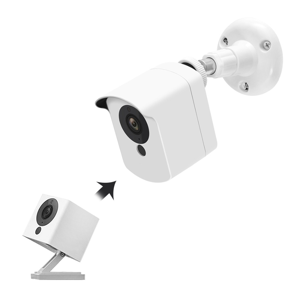Wyze Camera Wall Mount Bracket with Protective Cover Indoor Outdoor Use for Xiaomi CCTV Mijia Xiaofang Camera and Wyze Cam 1080pWyze Camera Wall Mount Bracket with Protective Cover Indoor Outdoor Use for Xiaomi CCTV Mijia Xiaofang Camera and Wyze Cam 1080p