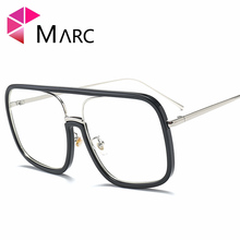 MARC WOMEN Optical fashion Alloy Black Sliver Square Leopard print Plain glass spectacles