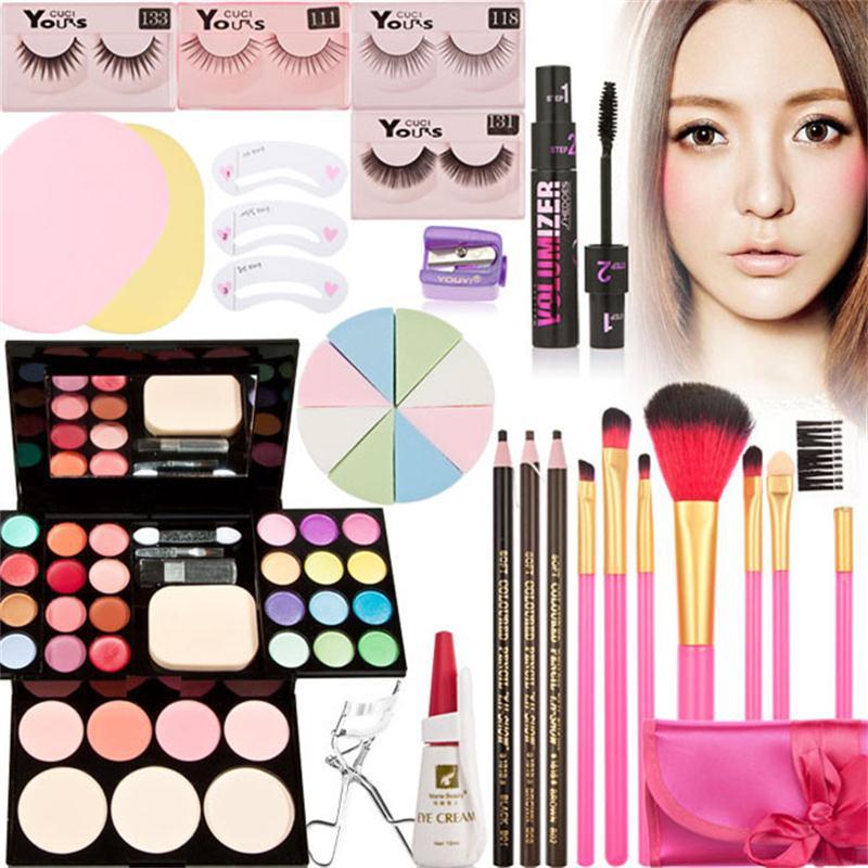 Hot New Beginners MakeUp Set 11pcs Makeup palette eye shadow makeup brushes Make Up Cosmetics Gift Set Tool Kit Makeup Gift Set