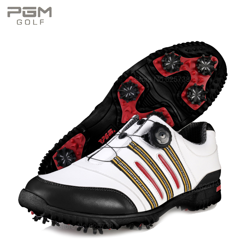 Pgm golf shoes soft leather rotating shoelace male waterproof sport shoes trainers gym athletic shoes sneakers 2017brand sport mesh men running shoes athletic sneakers air breath increased within zapatillas deportivas trainers couple shoes