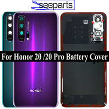 Original For Huawei Honor 20 Pro Battery Cover Door Back Housing Rear Case For Honor 20 Battery Cover Door With Lens Replacement