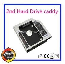 2nd SATA HDD Hard Disk Drive caddy for alienware m14x r2 UJ8A7 UJ867A UJ8A8 dvd Free