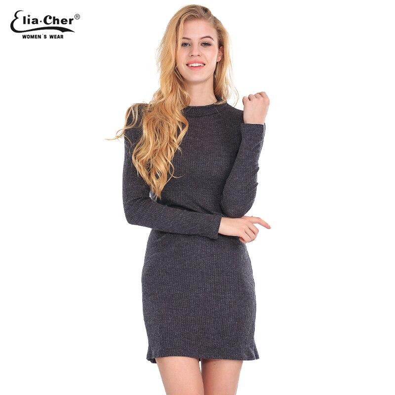 ộộ Women Long Sweater Dress Autumn Winter Dress Eliacher Brand