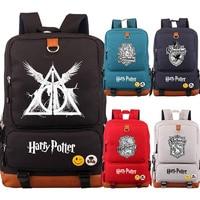 Deathly Hallows Slytherin Gryffindor Boy Girl School Women Bagpack Teenagers Schoolbags Canvas Men Student Backpack Packsack 43