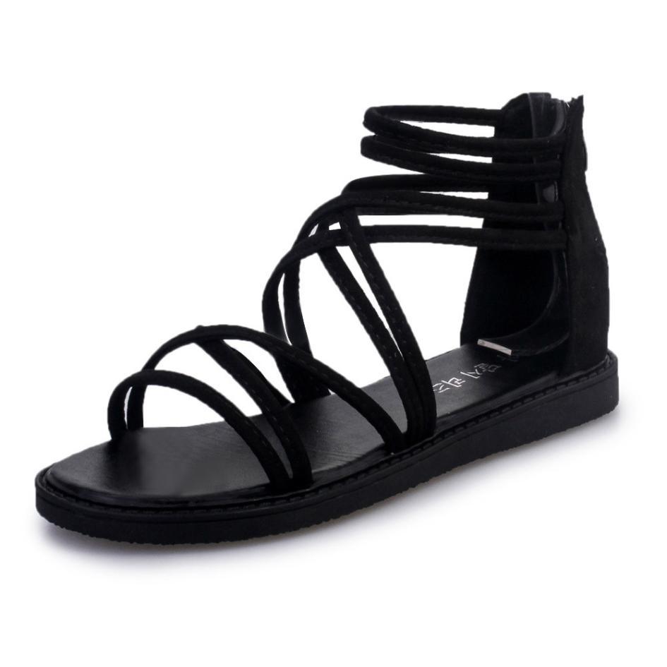 women Sandals Women Flat Shoes Bandage Bohemia Leisure Lady Casual Sandals Peep-Toe Outdoor Chaussures Femme 2018 hot sale 3