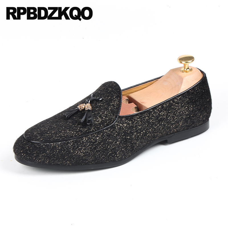 f3d67dd8be US $51.14 36% OFF Brand Elevator Tassel Prom Glitter European Nice Loafers  Italy Slip On Men Party Shoes Classic British Style Chic Horsehair-in Men's  ...