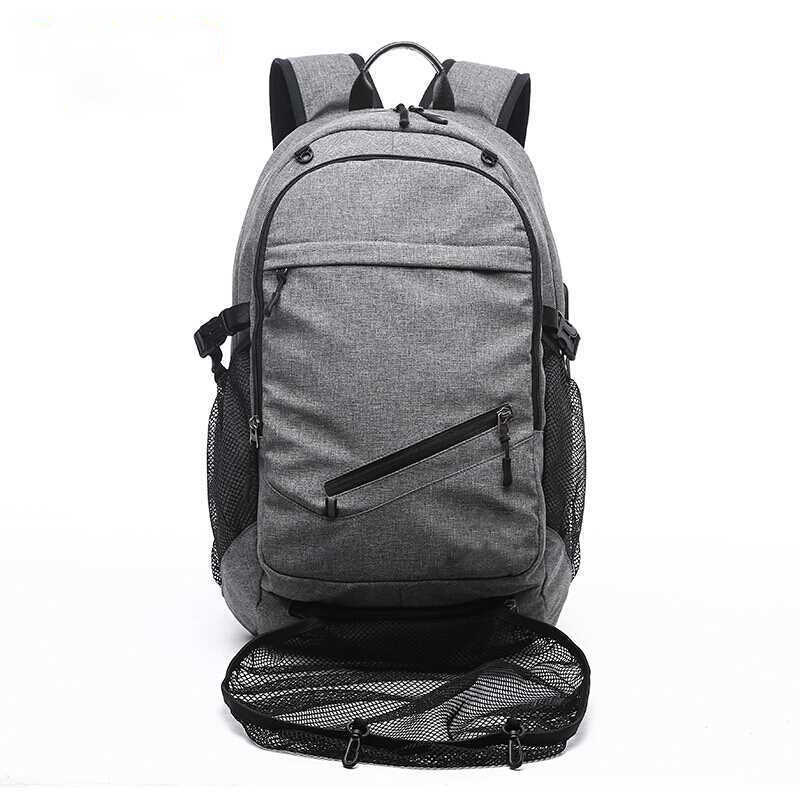 2a85cbc9a56e Outdoor Men s Sports Gym Bag Laptop Backpack USB Charging Travel Basketball  Backpacks With Ball Holder Teenager