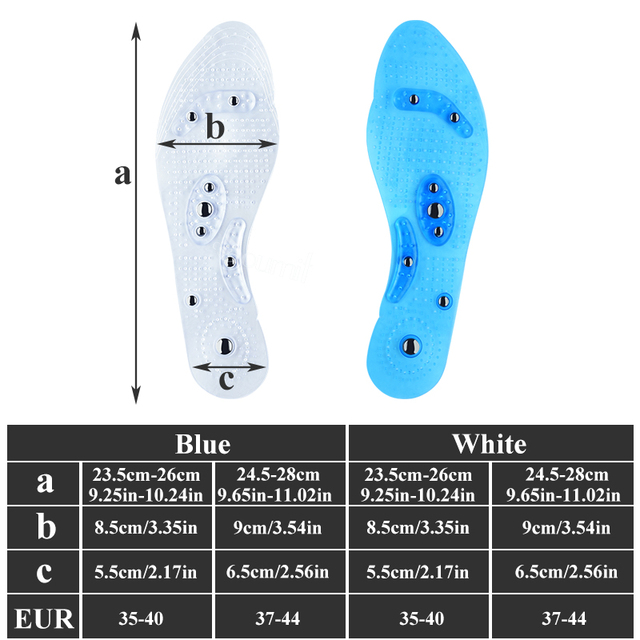 Soumit Magnetic Massage Insoles Foot Acupressure Shoe Pads Therapy Slimming Insoles for Weight Loss Transparent Dropshipping Pad 1
